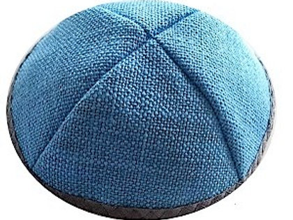 Light Blue Tweed with Gray Rim