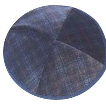 Navy Plaid Velvet