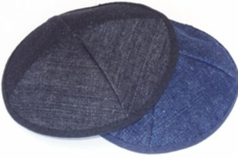 Blue or Black Denim Kippah