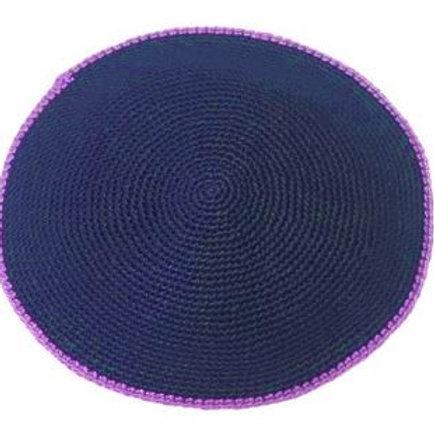 Navy with Purple Rim