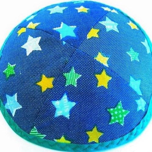 Kids Blue Star Kippah