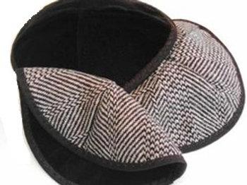 Reversible Brown Wool and Velvet