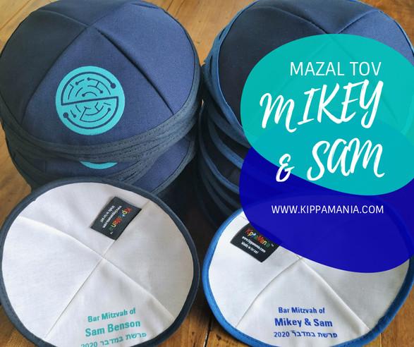 Custom Navy Cotton Kippot