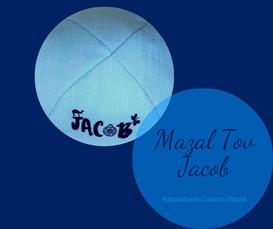 Jacob Bar Mitzvah Kippah
