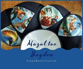 Jayden Bar Mitzvah Kippot