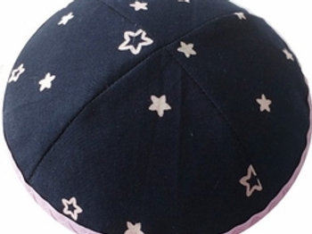 Blue Kippah with Stars