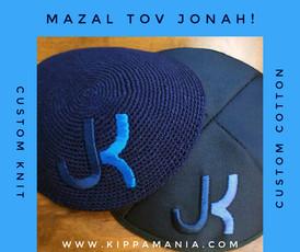 Custom Knit & Cotton Kippot