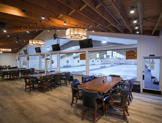 Curling Viewing & Dining Area