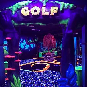 Black light mini golf
