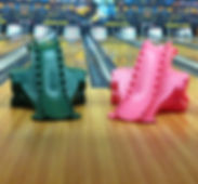 Dino bowling ramps for the kids