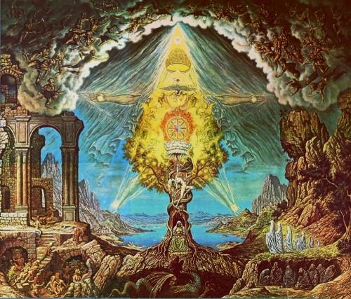 Gnostic Christian Pentagram Painting
