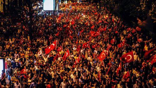 A Patriotic rally in Turkey
