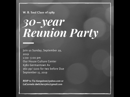 Class of 1989 30th Reunion