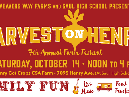 Harvest on Henry 7th Annual Farm                        Festival