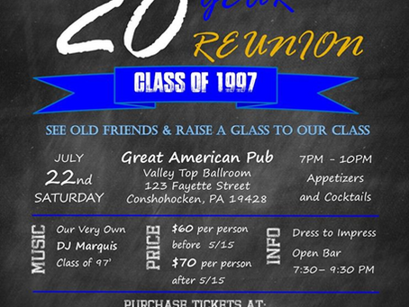 Class of 1997 20th Reunion