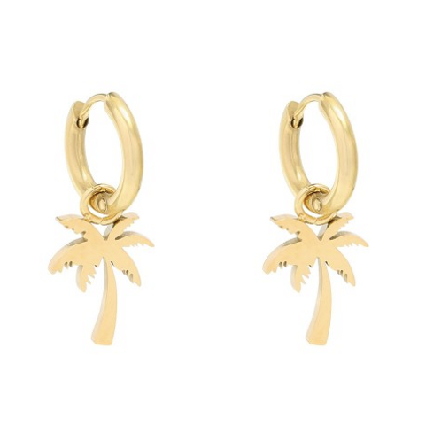Earrings Summer Palm