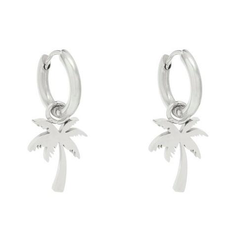 Earrings Summer Palm Silver