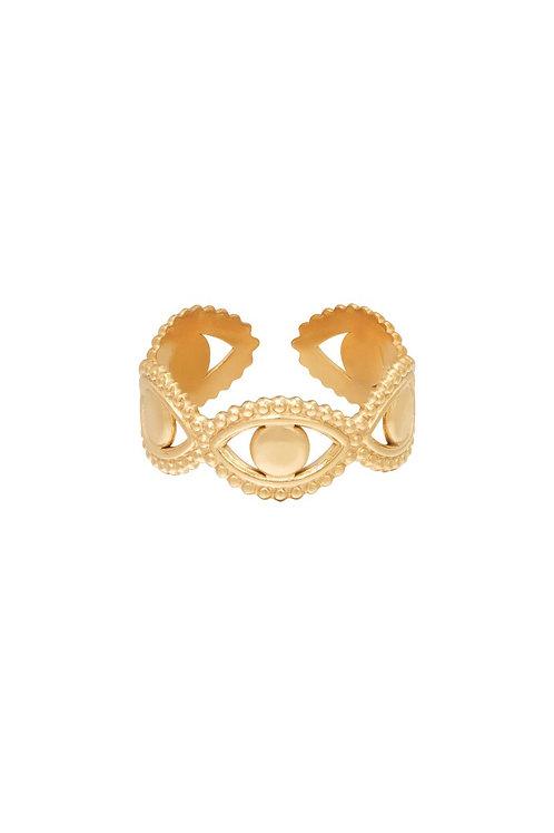 Ring Eyes Gold