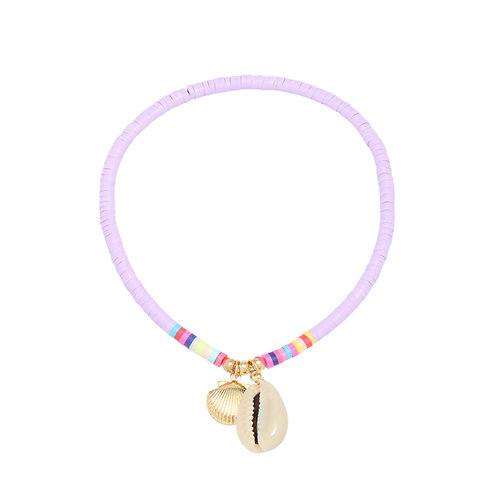 Anklet lilac shell