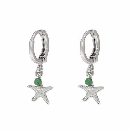 Seastar Earrings Silver