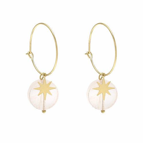Shiny stone earrings