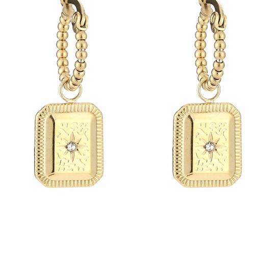 Ornamental Earrings Gold
