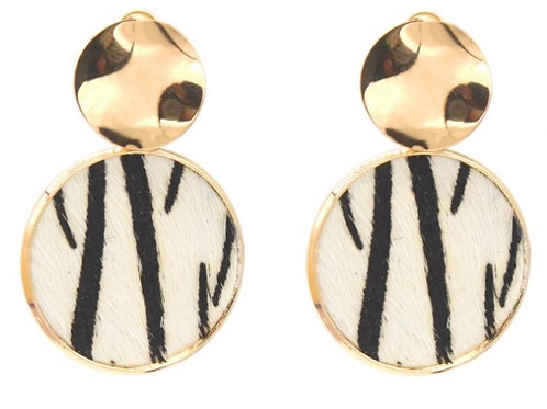 Earrings Zebra
