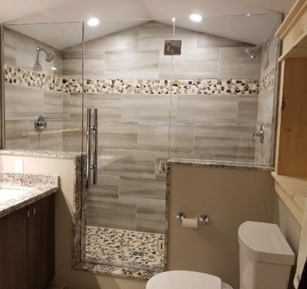 In-Line Custom Glass Shower
