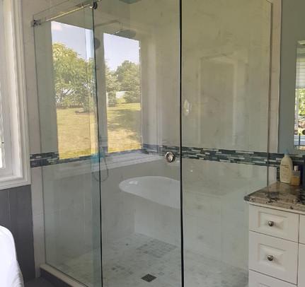 Sliding Glass Door Shower Enclosure