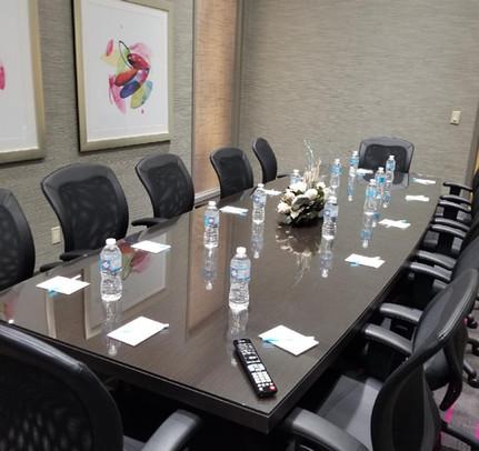 Custom Glass Table Top Meeting Room