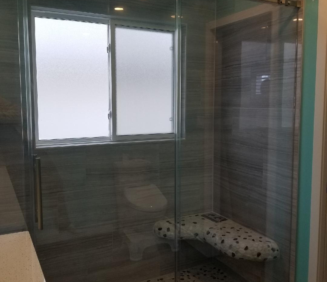 3 Panel Custom In-Line Shower