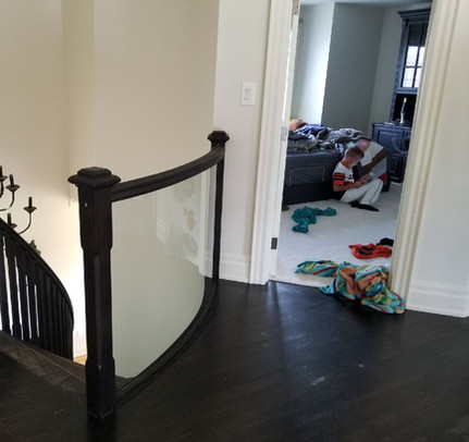 Custom Curved Tempered Glass Railing