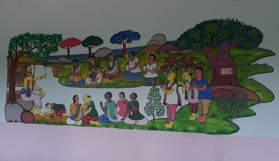 Murals at Raghurajpur School