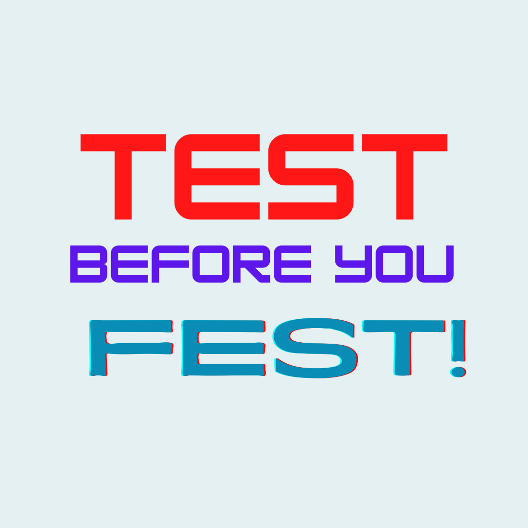 Pre-Festival RAPID TEST -PRINTED RESULTS