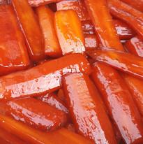 Carottes glacées au soja