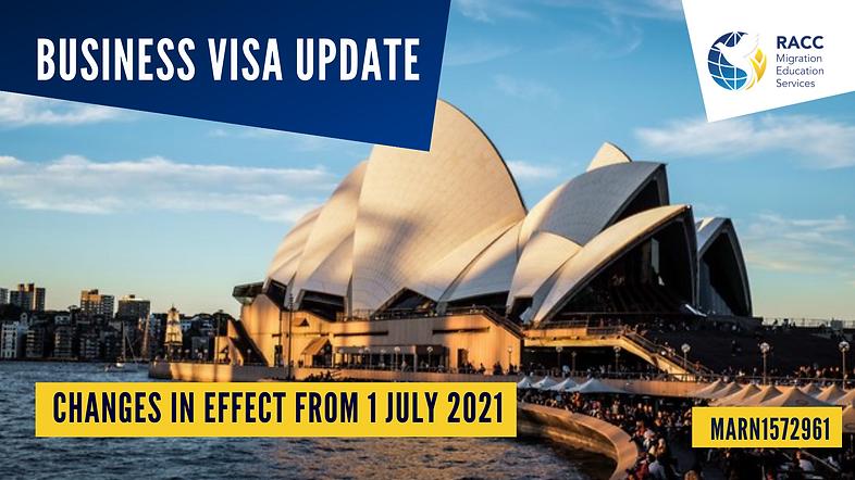 Business Visa Update