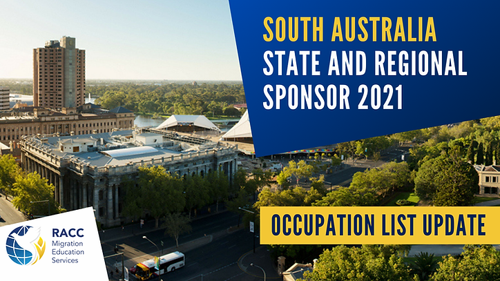 South Australia State and Regional Spons