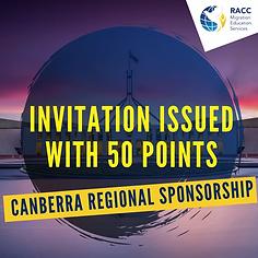 Canbera Regional SPonsorship