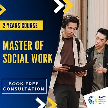 Master of Social Work-Reg Vic