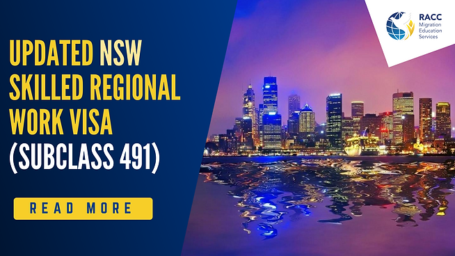 NSW skilled regional work visa