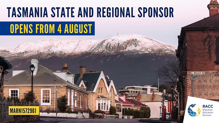Tasmania State and Regional Sponsor