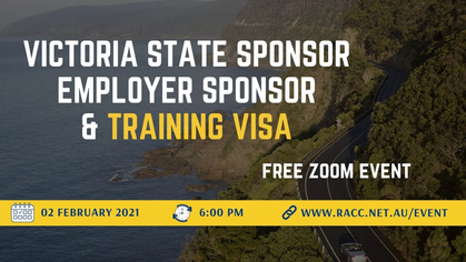 Victoria State Sponsor, Employer Sponsor and Training Visa