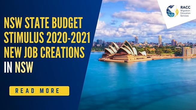NSW State budget stimulus