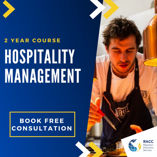 2 Year course in Hospitality Management