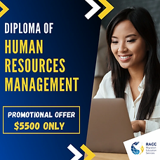 Diploma of Human Resources Management.we