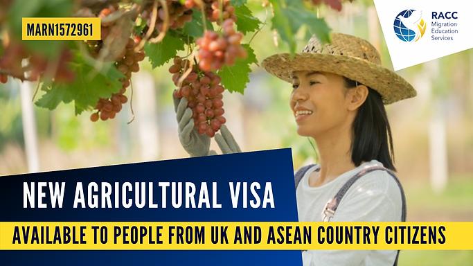 New Agricultural Visa