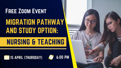 Free Event: Migration Pathway and Study Options: Nursing & Teaching