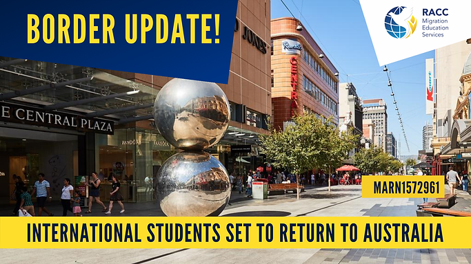 International students return to Australia