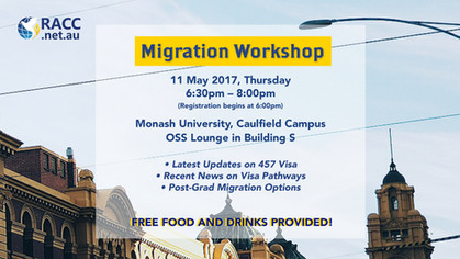 Migration Workshop @Monash (Free Event)