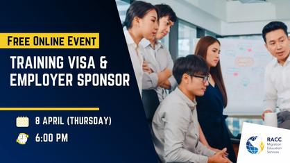 Free Event: Training Visa & Employer Sponsor
